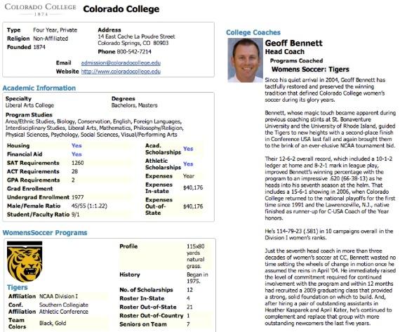 Marvelous GotSoccer.com  College Soccer Resume